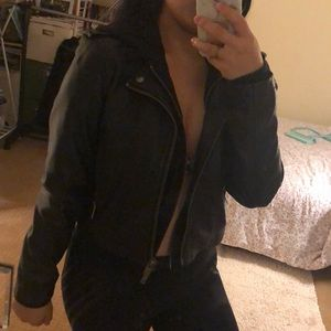 Faux leather jacket from urban outfitters